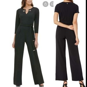 Tommy Hilfiger Black Jumpsuit with Gold Chain